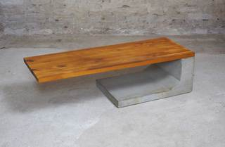 Cantilever Table</br> Concrete & Yellow Locust</br> 1065x385x295</br> €800,-
