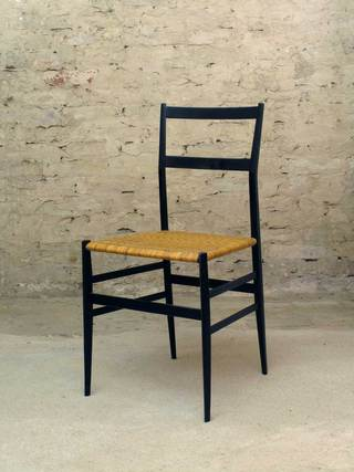 699 Superleggera Chair, used</br> Gio Ponti for Cassina</br> Black lacquered Ashwood, Cane</br> €750,- ea.